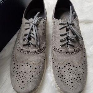 Cole Haan Zerogrand suede wingtip tie shoes
